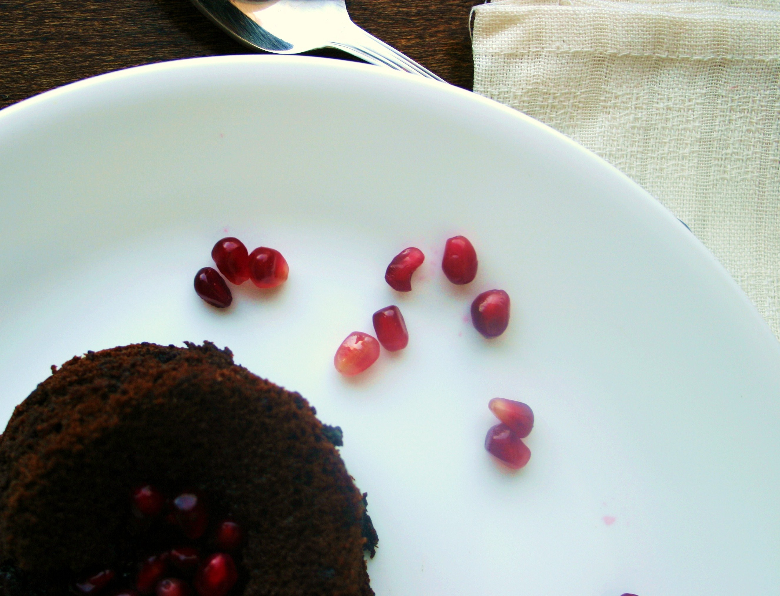 Marquis de Sade: Molten Chocolate Espresso Cake with Pomegranate