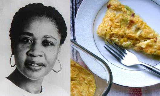 Jamaica Kincaid: Cheddar Leek Corn Pudding