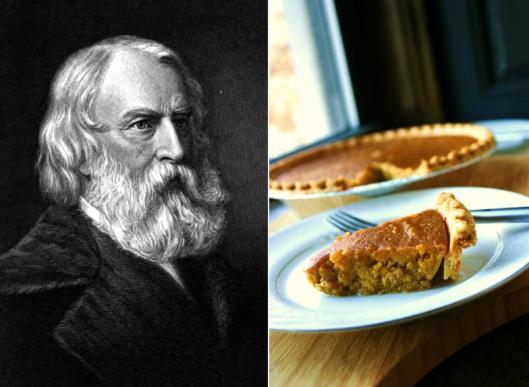 Henry Wadsworth Longfellow - Molasses Pumpkin Pie