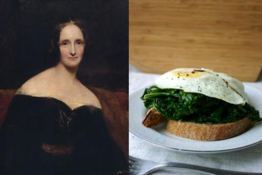 Mary Shelley - Kale and Fried Egg Tartine