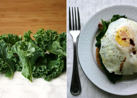 Kale and Fried Egg Tartine Recipe