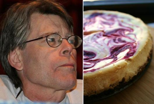 Stephen King: Cranberry Orange Swirl Cheesecake