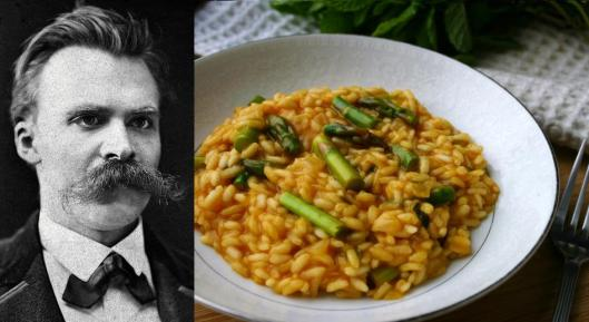 Friedrich Nietzsche: Lemon Risotto with Asparagus and Mint