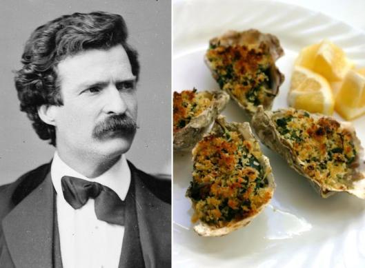 Mark Twain: Oysters Rockefeller