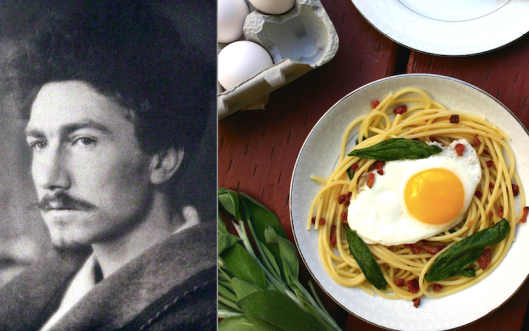 Exra Pound: Spaghetti with Sage, Pancetta and Fried Egg