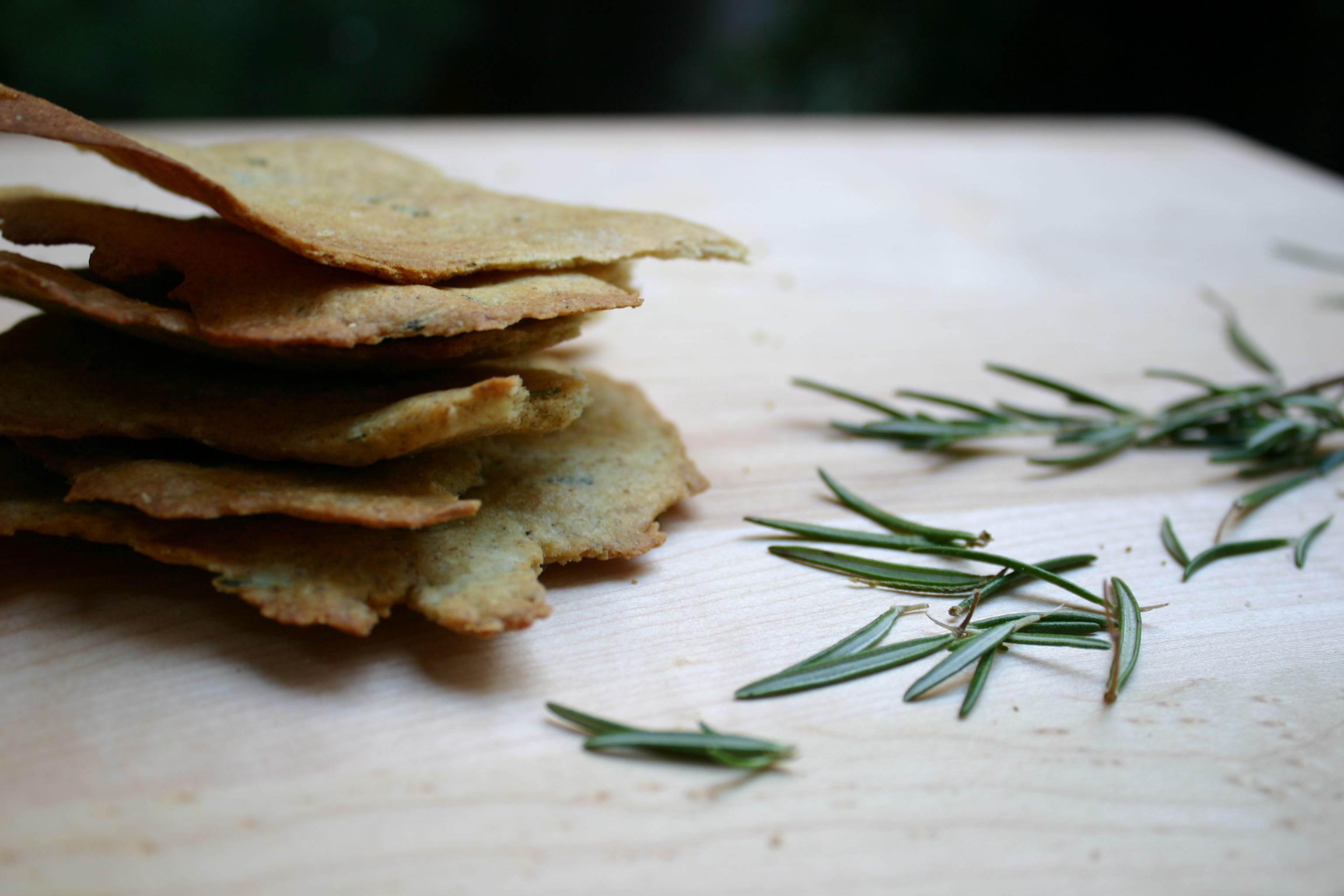 aad0af3b3c9a Lewis Carroll  Rosemary Olive Oil Crackers with Sea Salt   Paper and ...