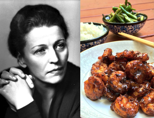 Pearl S. Buck: Stir-Fried Shrimp and Garlic Green Beans