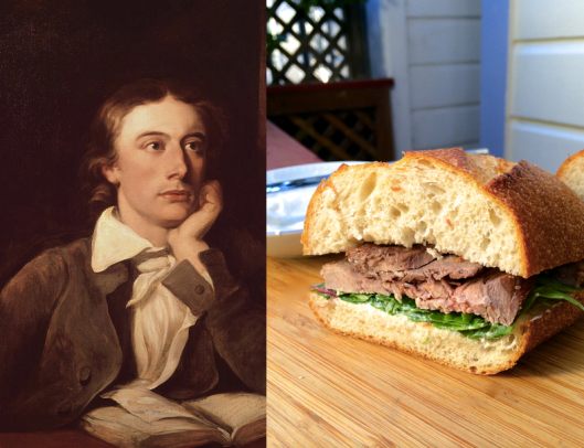 John Keats - Roast Beef Sandwiches with Horseradish Cream